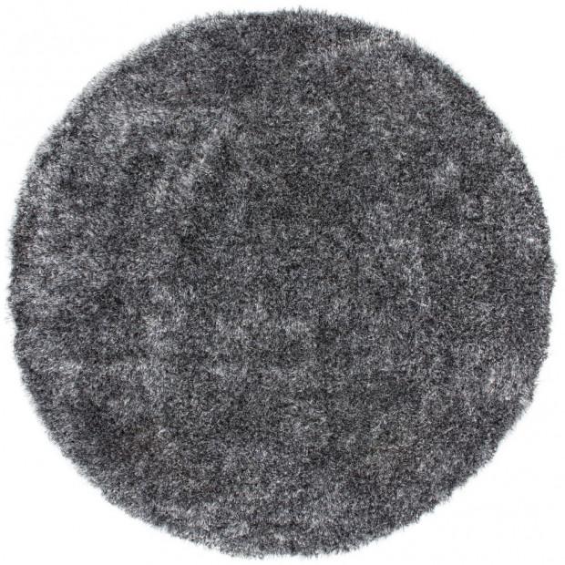 Tapis shaggy moderne coloris gris avec des motifs uni L. 160 x P. 160 x H. 5 cm Collection Wailuku