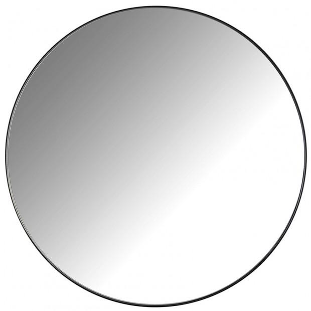 Miroir noir design en fer forgé et miroir, L. 45 x P. 3 x H. 45 cm,  collection Jamel Richmond Interiors Richmond Interiors