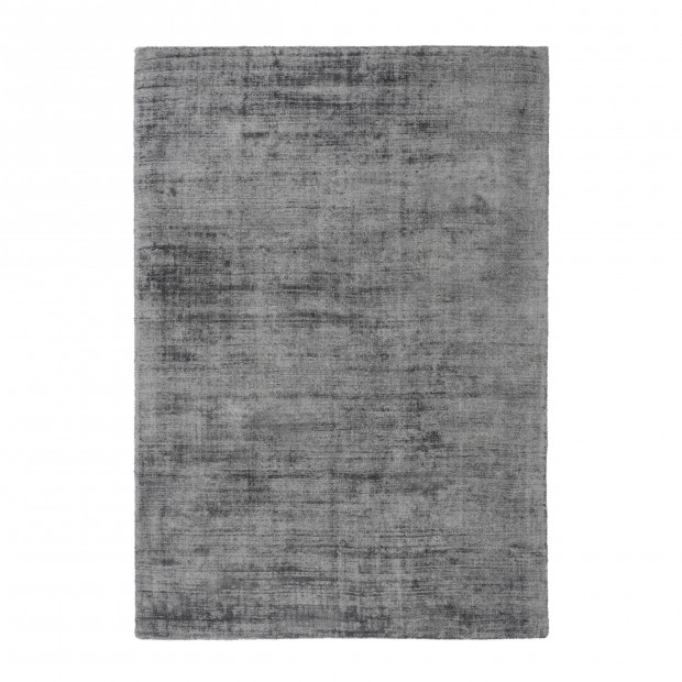 Tapis unicolore argenté design tissé à la main en viscoseL. 290 x P. 200 x H. 0,9 cm collection Sharonna