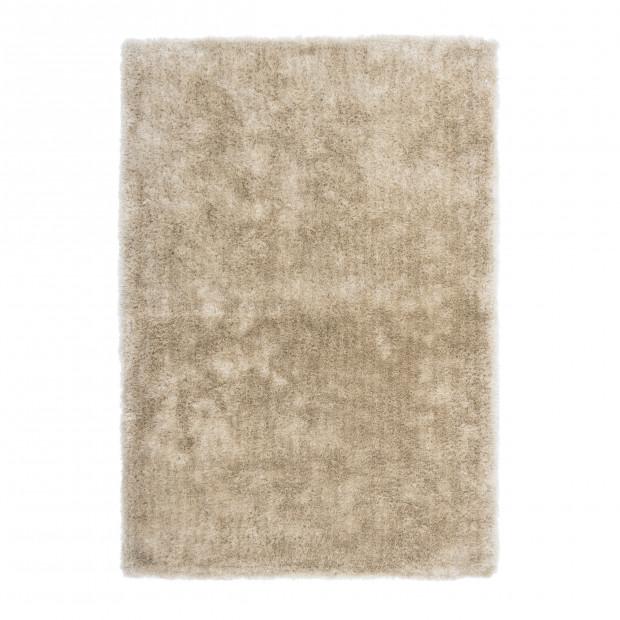 Tapis shaggy moderne beige en polyester L. 230 x P. 160 x H. 4 cm Collection Dorstadt