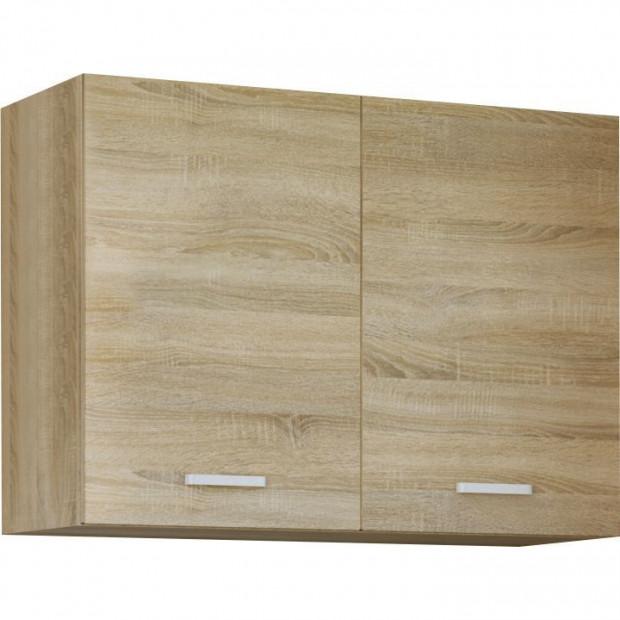 Meuble haut de cuisine style contemporain 2 portes coloris sonoma L. 80 x P. 30 x H. 72 cm collection Louella