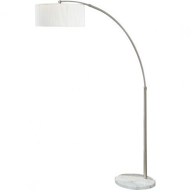 Lampadaire 225 cm en acier chromé extensible coloris blanc collection Braunweiler