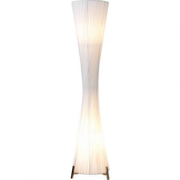 Lampadaire blanc moderne en tissu H. 200 cm collection Chaineux