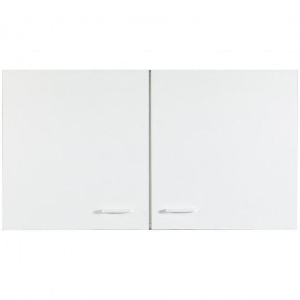 Armoire murale cuisine à 2 portes  blanc classique en panneaux de particules de haute qualité  L. 100 x P. 35 x H. 53 cm collection Spijkstra