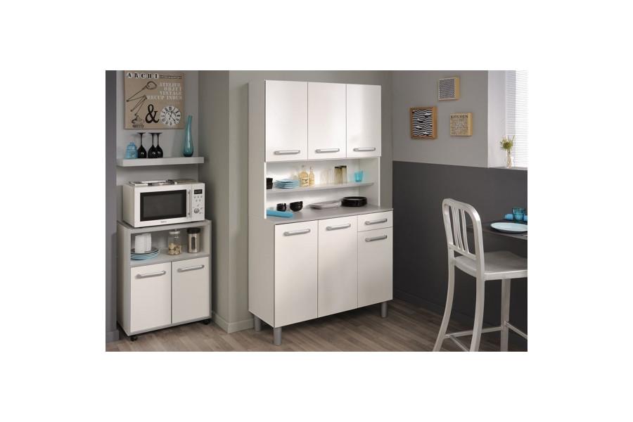 Cuisine complète moderne coloris blanc en panneaux de particules de haute qualité Collection Maija