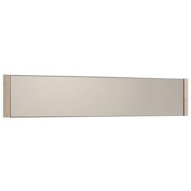 Miroir contemporain marron en panneaux de particules de haute qualité L. 164 x P. 2 x H. 35 cm Collection Elstgeest