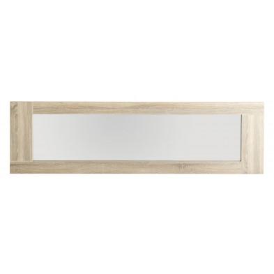 Miroir contemporain marron en panneaux de particules mélaminés de haute qualité L. 190 x P. 4 x H. 54 cm Collection Liddington