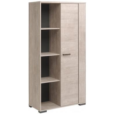 Argentier - meuble bar beige contemporain L. 89 x P. 40 x H. 180 cm collection Berkers