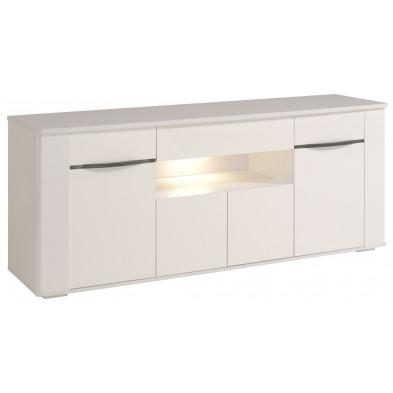 Buffet - bahut - enfilade design blanc en panneaux de particules de haute qualité L. 201 x P. 52 x H. 84 cm Collection  Applin