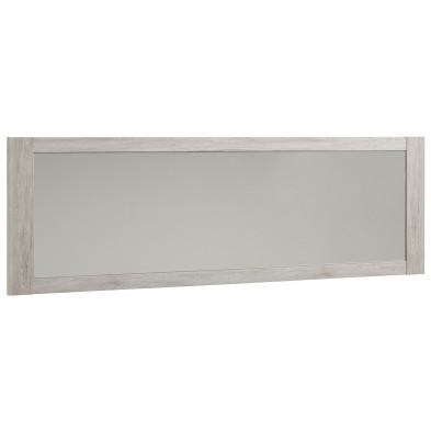 Miroir contemporain gris en panneaux de particules de haute qualité  L. 198 x P. 3 x H. 62 cm Collection Janey