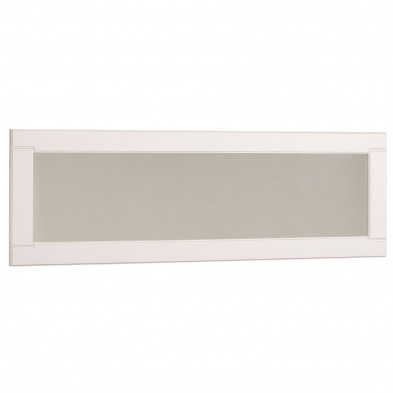 Miroir de salle à manger contemporain blanc L. 158 x P. 2.8 x H. 50 cm Collection Athis
