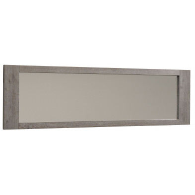 Miroir contemporain gris en bois massif L. 190 x P. 4.5 x H. 55 cm collection Vanderhave