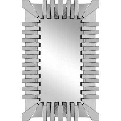 Miroir argenté design effet 3D 80 cm x 120 cm collection Lema