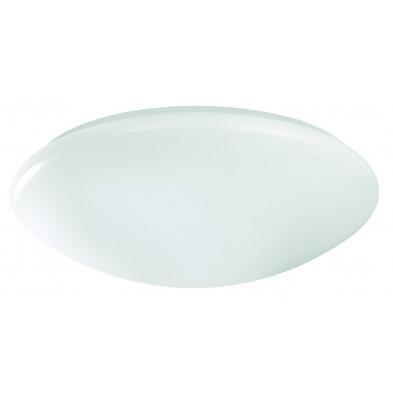 Plafonnier blanc design en verre L. 36 x H. 10 cm collection Partanna