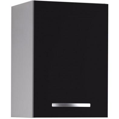 Meubles haut moderne gris en panneaux de particules mélaminés de haute qualité L. 40 x P. 35 x H. 57 cm Collection Southtown