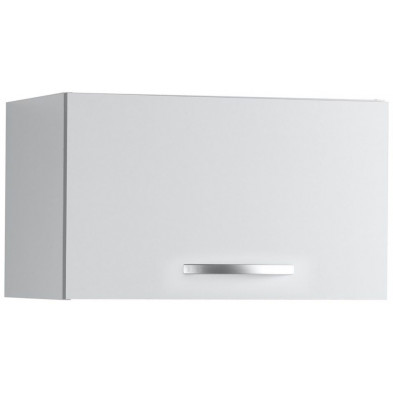 Meubles haut moderne blanc en panneaux de particules mélaminés de haute qualité L. 60 x P. 35 x H. 35 cm Collection Janco