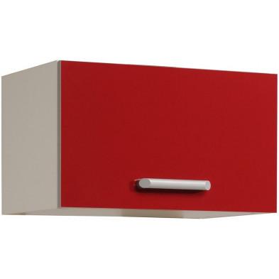 Meubles haut moderne rouge en panneaux de particules mélaminés de haute qualité L. 60 x P. 36 x H. 35 cm Collection Avonwick