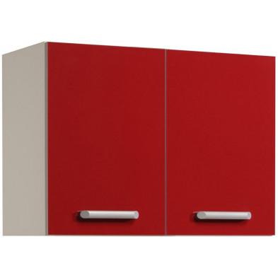 Meubles haut moderne rouge en panneaux de particules mélaminés de haute qualité L. 80 x P. 36 x H. 58 cm Collection Avonwick