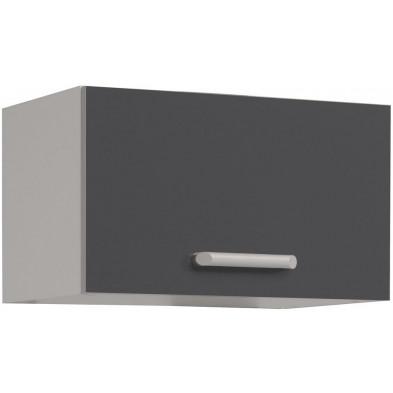 Meubles haut moderne gris en panneaux de particules mélaminés de haute qualité L. 40 x P. 38 x H. 35 cm Collection Stream