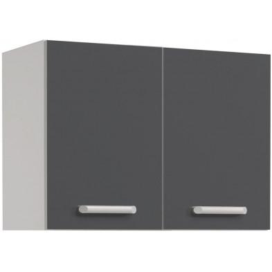 Meubles haut moderne gris en panneaux de particules mélaminés de haute qualité L. 80 x P. 36 x H. 58 cm Collection Stream