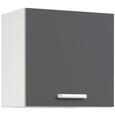 Meubles haut moderne gris en panneaux de particules mélaminés de haute qualité L. 60 x P. 36 x H. 58 cm Collection Stream