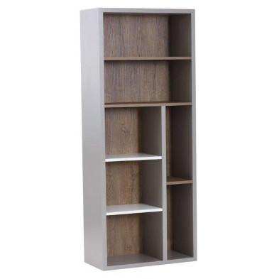 Bibliothèque design en Bois MDF et panneaux de particules de haute qualité L. 70 x P. 35 x H. 174 cm collection Controne