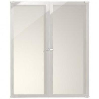 Armoire 2 portes moderne blanc en panneaux de particules de haute qualité L. 75 x P. 4 x H. 91 cm Collection Use