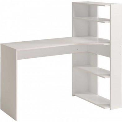 Bureau enfant moderne blanc en panneaux de particules de haute qualité L. 122 x P. 64 x H. 121 cm Collection Jisk