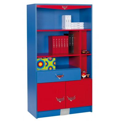 Bibliothèque enfant rouge design en bois mdf collection Guimaraes
