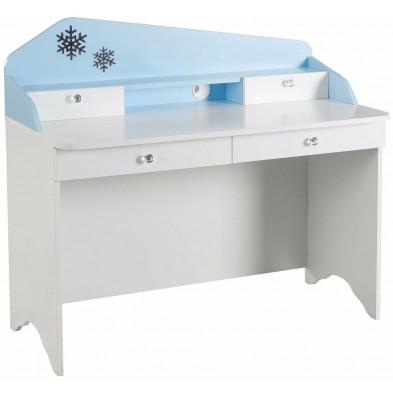 Bureau enfant bleu design en bois mdf 58 cm de largeur collection Franke