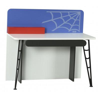 Bureau enfant rouge design en bois mdf 60 cm de largeur collection Venhuizen