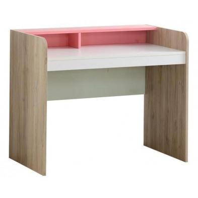 Bureau enfant blanc design en bois mdf 104 cm de largeur collection Queuedubois