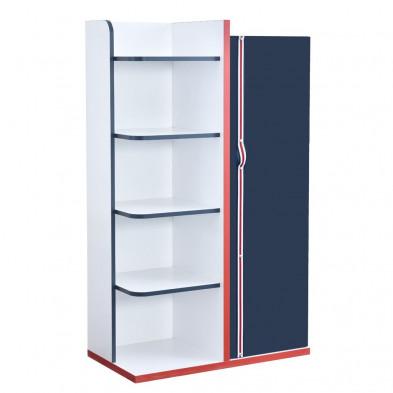 Bibliothèque enfant blanc design en bois mdf collection Aigues