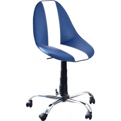 Chaise enfant Blanc Design en Bois mdf 57 cm de largeur collection Aigues