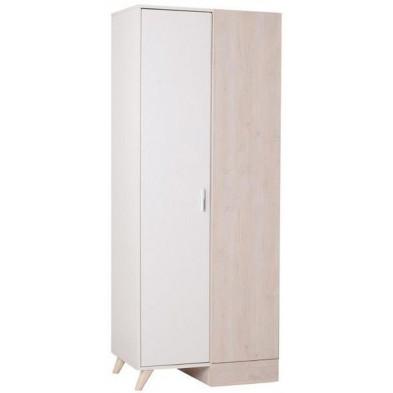 Armoire enfant blanc design en bois mdf collection Laredonda