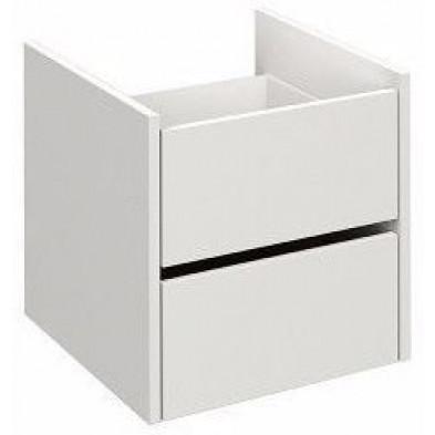 Etagère design blanc en panneaux de particules mélaminés de haute qualité L. 96 x P. 49 x H. 26 cm Collection Haidmuhle