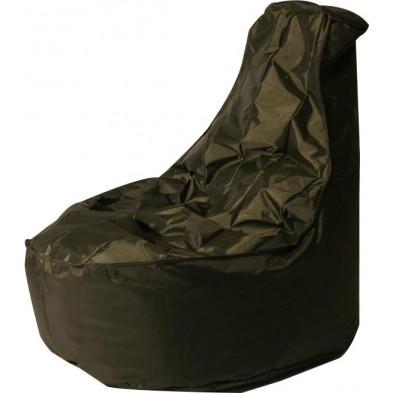 Pouf  marron design en nylon  H. 105 x L. 75 x P. 100 cm collection Galvan