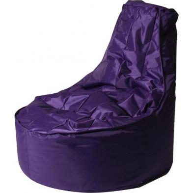 Poufs violet design en  nylon 100 cm de largeur H. 105 x L. 75 x P. 100 cm collection Galvan