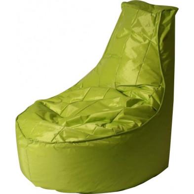 Pouf vert design en  nylon H. 105 x L. 75 x P. 100 cm collection Galvan