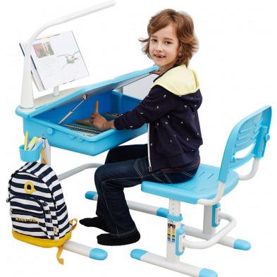 Bureau enfant bleu design L. 70 x P. 54 x H. 76 cm collection Gabrielle