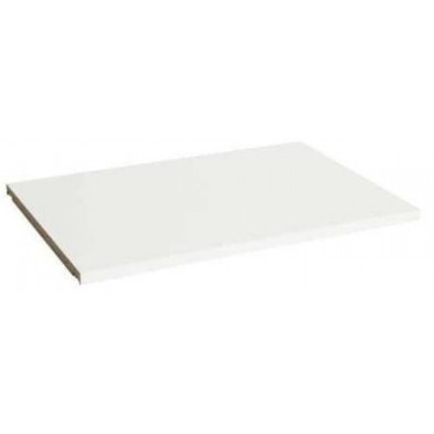 Étagère supplémentaire en blanc romantique en bois mdf L.97.8 x P.50 x H.1.8 cm  collection Herveld