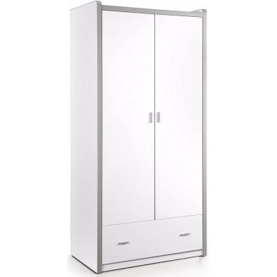 Armoire enfant blanc design L.101 x P.57 x H.201 cm  collection Haring