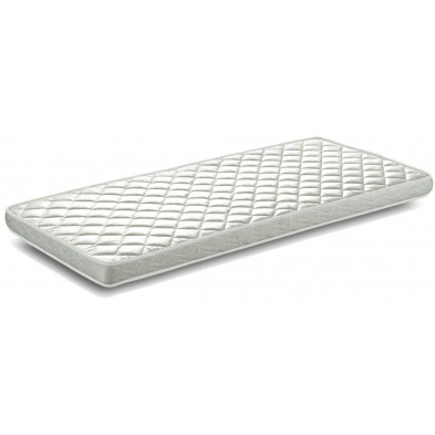 Matelas blanc moderne en mousse L. 200 x P. 90 x H. 10 cm collection Nistelrode