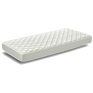Matelas blanc moderne en mousse L. 200 x P. 90 x H. 19 cm collection Nistelrode