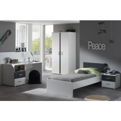 Packs chambre enfant blanc design en panneaux de particules de haute qualité collection Surmise