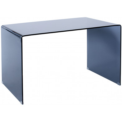 Bureau design en verre coloris anthracite L. 120 x P. 70 x H. 72 cm collection Undesirable