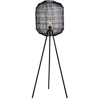 Lampadaire noir design en papier L. 54 x P. 54 x H. 159 cm collection Chaubee