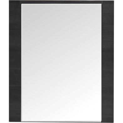 Armoire murale avec miroir à 2 portes design coloris frêne gris en agglomérées et miroir L. 60 x P. 20 x H. 70 cm collection Brawny