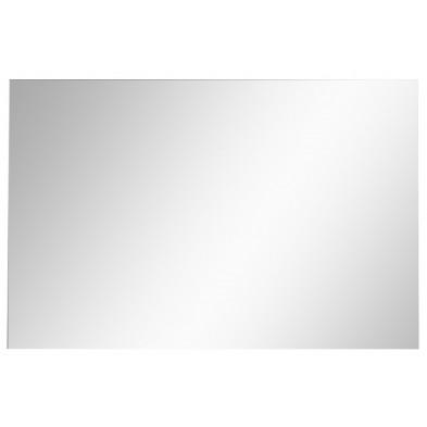 Miroir mural rectangulaire coloris gris L. 91 x P. 2 x H. 60 cm collection Adriaensen