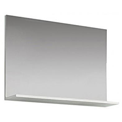 Miroir mural design  coloris blanc brillant L. 91 x P. 14 x H. 60 cm collection Wardin